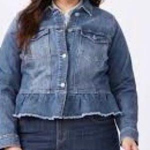 Peplum Jean jacket